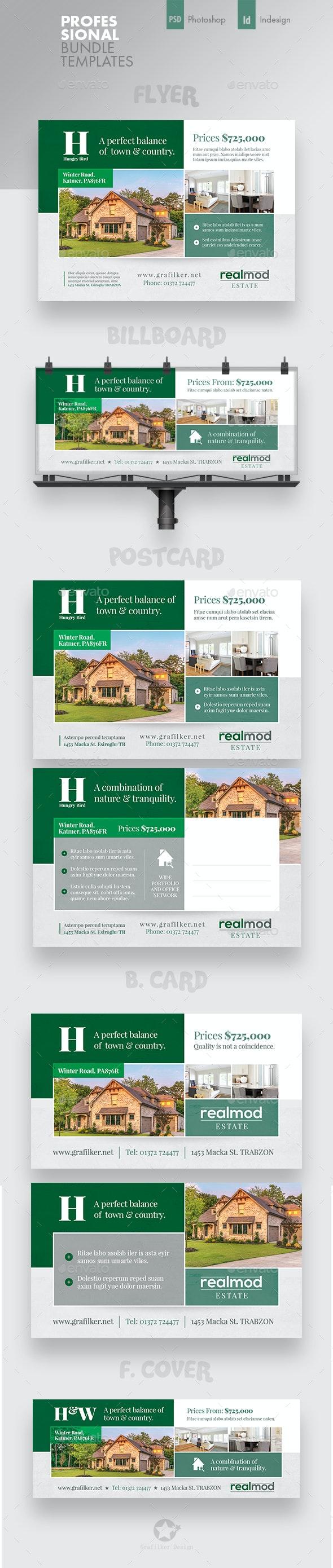 Real Estate Bundle Templates - Corporate Flyers