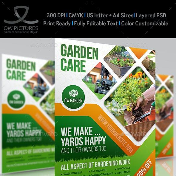 Garden Services Flyer Template Vol.5