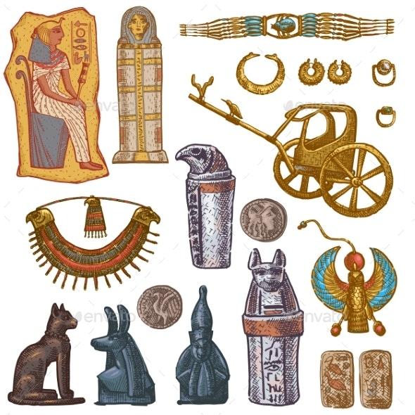 Egyptian Vector Ancient Sarcophagus Pharaoh - Miscellaneous Vectors