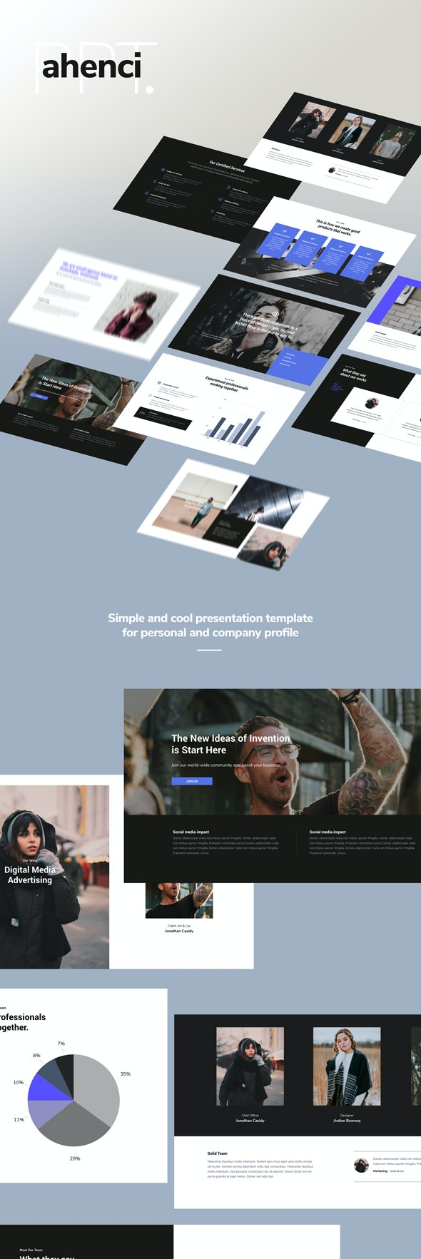 Ahenci - Powerpoint Template - Presentation Templates