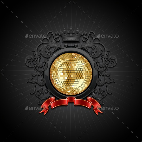 Background with Disco Ball - Backgrounds Decorative