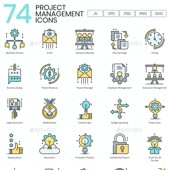 Project Management Icons - Aqua Series