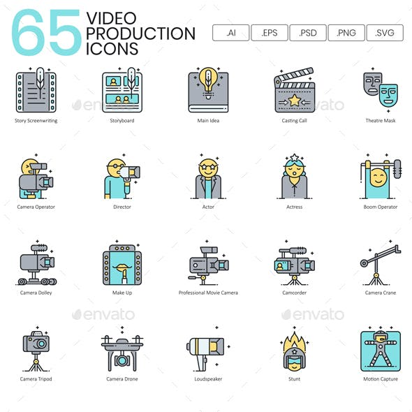 Video Production Icons | Aqua Series