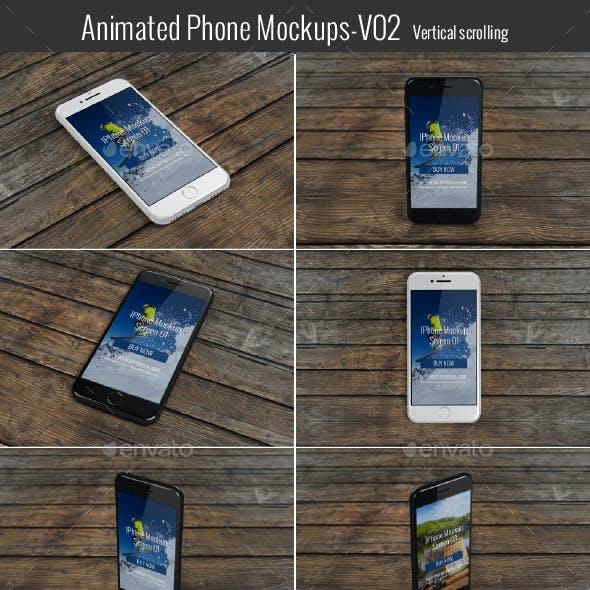 Animated Phone Mock-Up V02-Vertical Scrolling