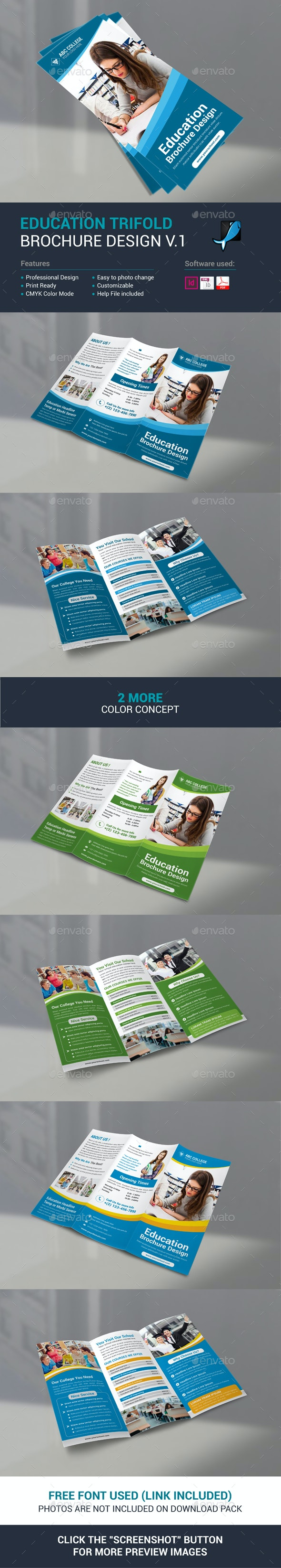 Education Trifold Brochure - Corporate Brochures