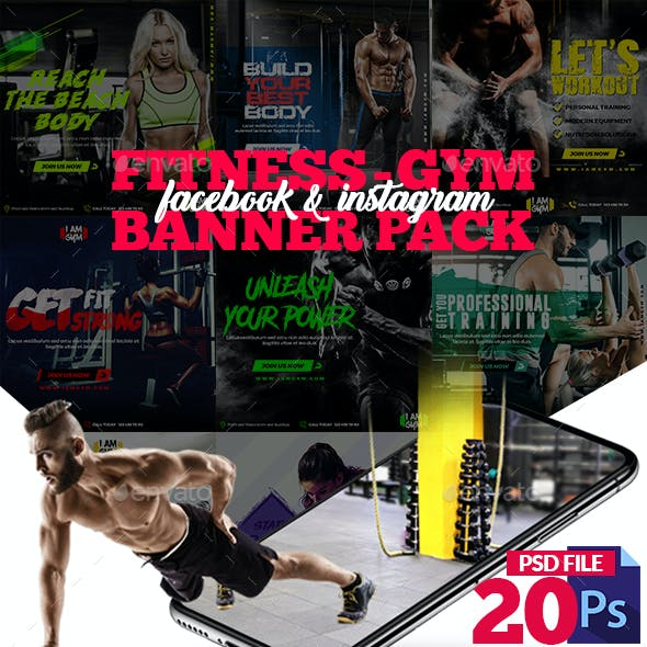 Fitness-GYM Banner Pack