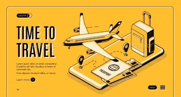 Online Mobile Service for Travelers Vector Website - Travel Conceptual