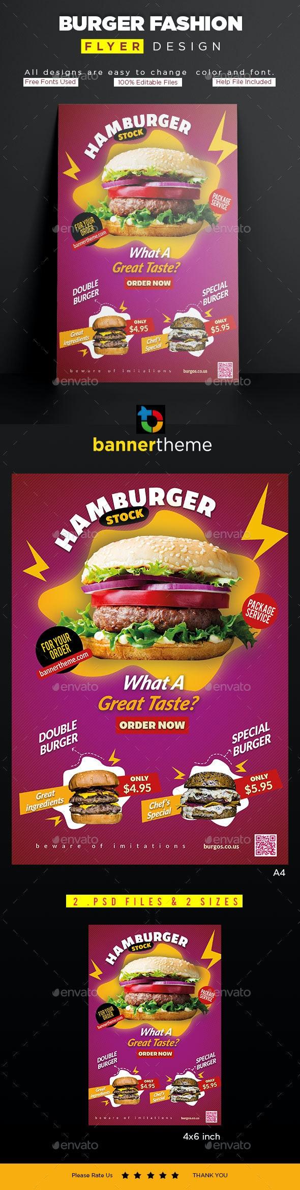 Burger Flyer - Flyers Print Templates