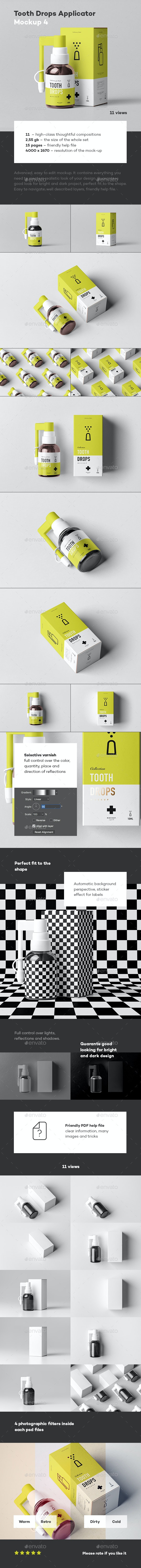 Tooth Drops Applicator Mock-up - Miscellaneous Packaging