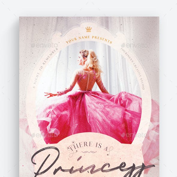There Is A Princess Inside All Of Us Flyer Template