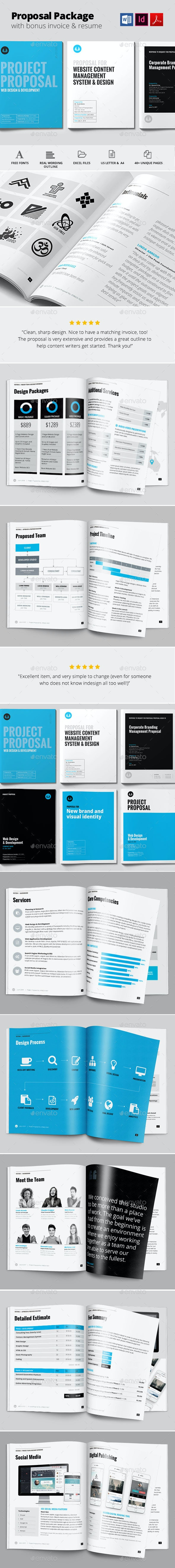 Project Proposal Template - Proposals & Invoices Stationery