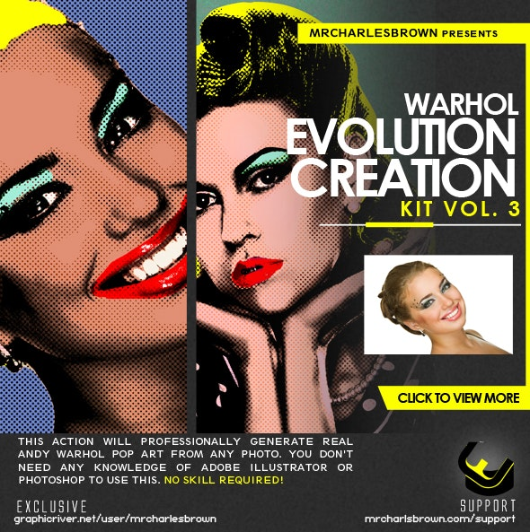 Warhol Evolution Creation Kit v3 - Photo Effects Actions