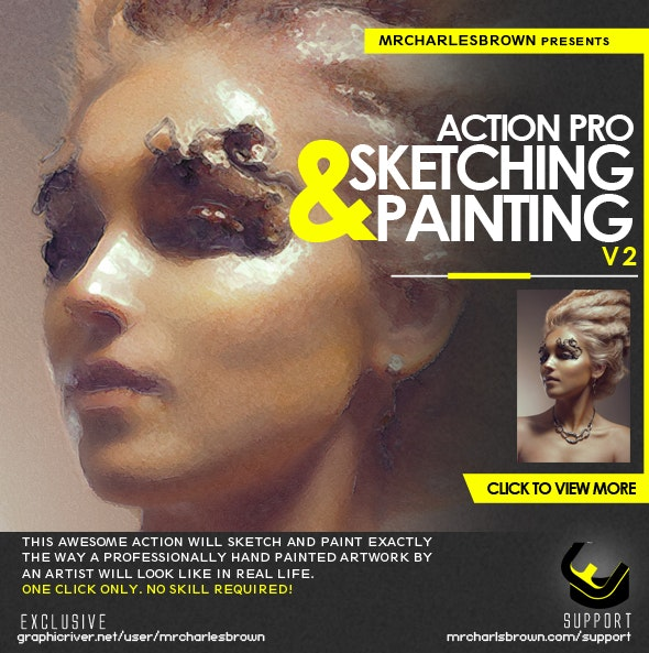 Action Pro Sketching and Painting v2 - Photo Effects Actions