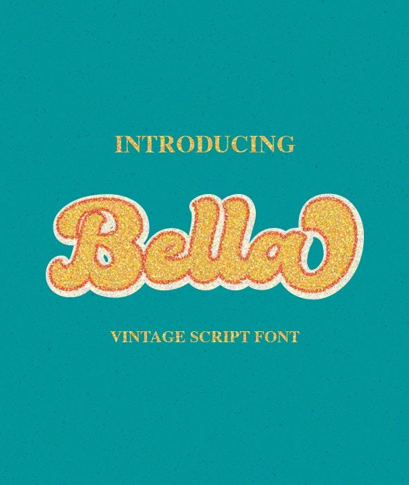 Bella - Vintage Script Font - Calligraphy Script