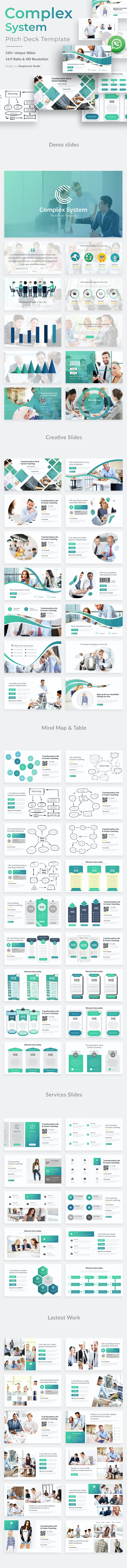 Complex System Pitch Deck Keynote Template - Business Keynote Templates
