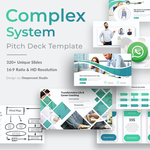 Complex System Pitch Deck Keynote Template