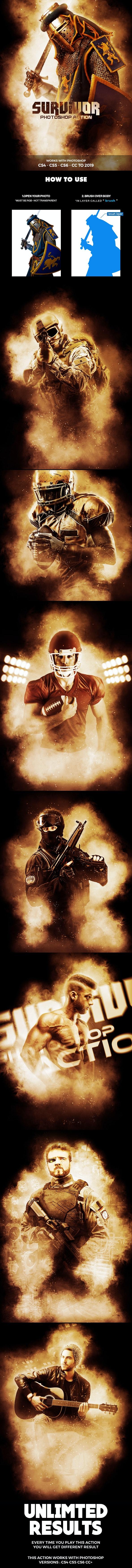 Survivor Photoshop Action - Photo Effects Actions