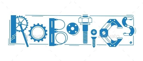 Robotics Word - Decorative Symbols Decorative