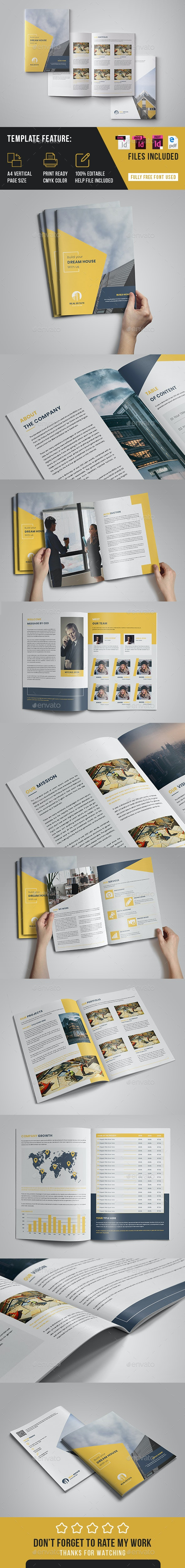 Realestate Brochure Indesign Template - Brochures Print Templates