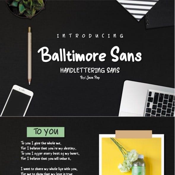 Balltimore Sans // Handlettering Sans