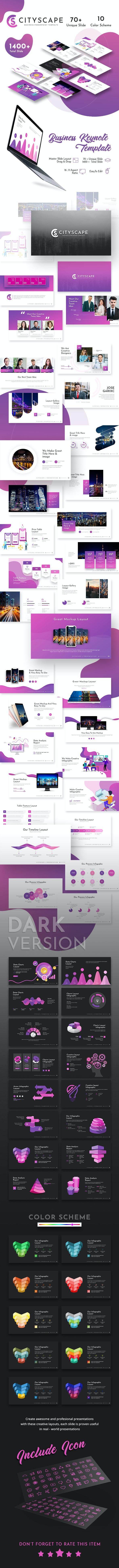 Cityscape Keynote Template - Business Keynote Templates