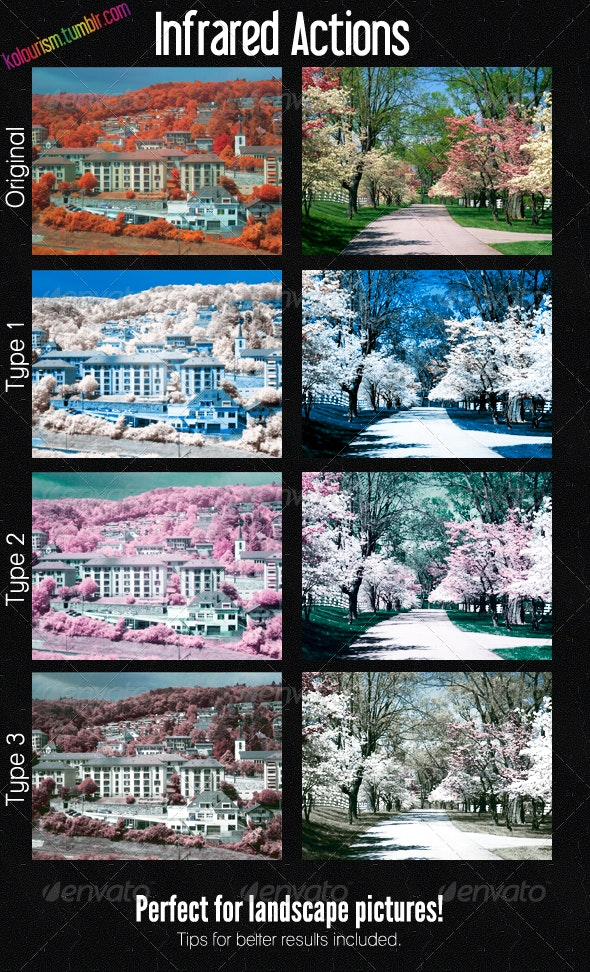 Infrared Actions - Photo Effects Actions