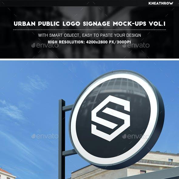 Urban Public Logo Signage Mock-Ups Vol.1