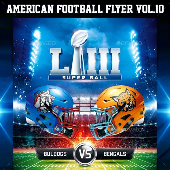 American Football Super Ball Flyer Vol 11