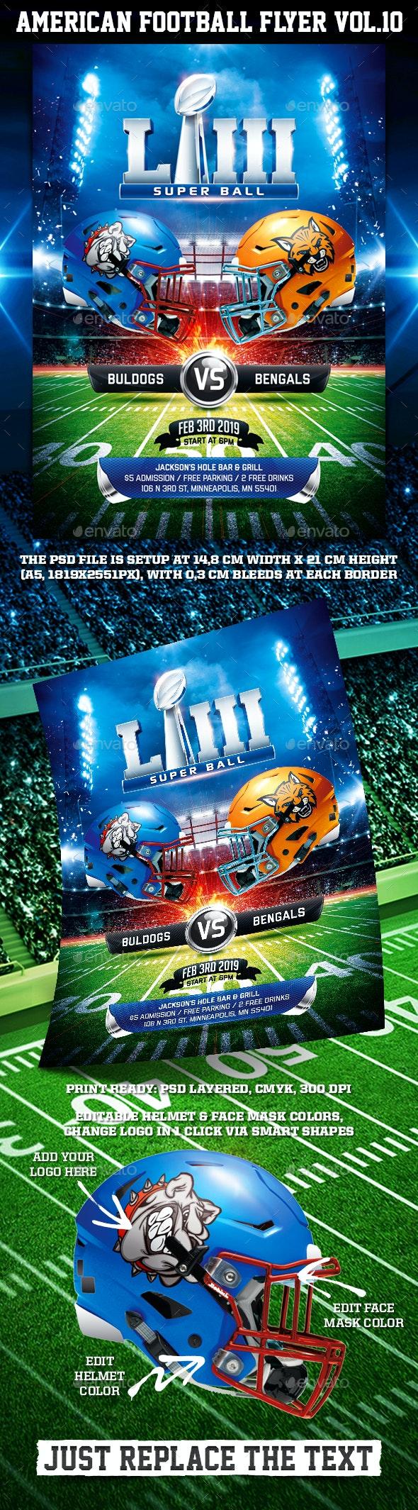 American Football Super Ball Flyer vol.11 - Sports Events