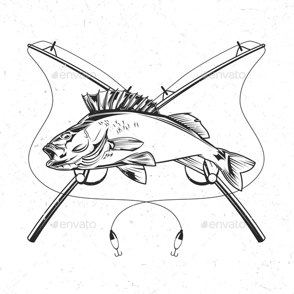 Fish and Rods - Animals Characters