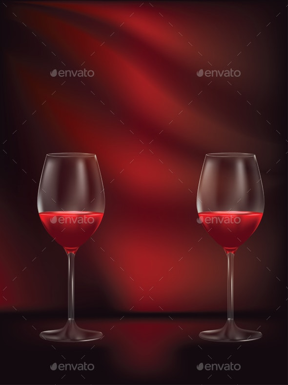 Glass of Red Wine - Food Objects