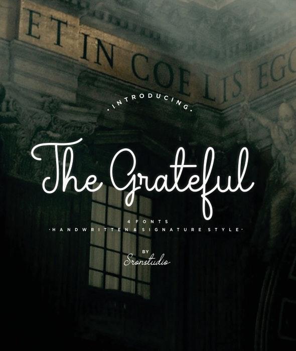 The Grateful Script - Hand-writing Script