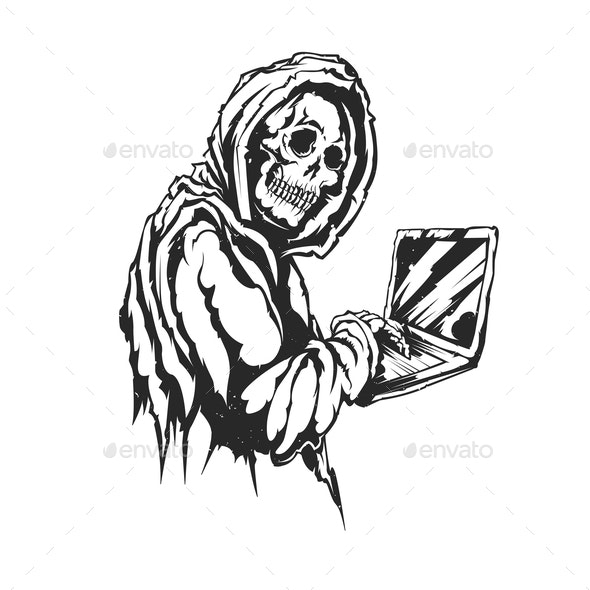 Skeleton with Notebook - People Characters