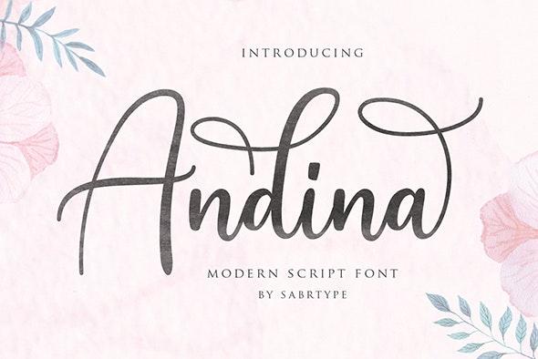 Andina - Modern Script Font - Calligraphy Script