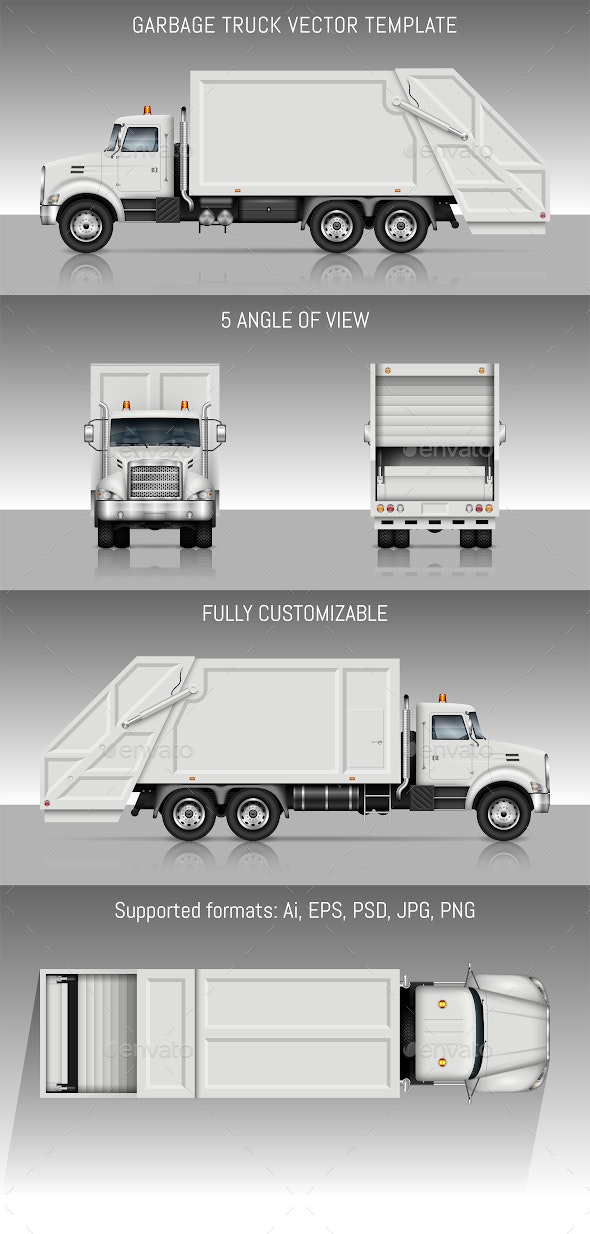 Garbage Truck - Man-made Objects Objects
