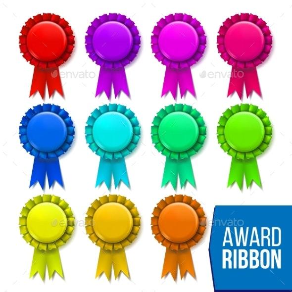 Award Ribbon Set Vector - Man-made Objects Objects