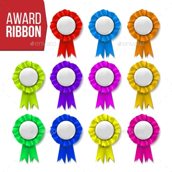 Award Ribbon Set Vector Certificate Banner - Man-made Objects Objects
