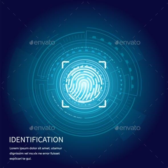 Identification Fingerprints Poster Text Vector