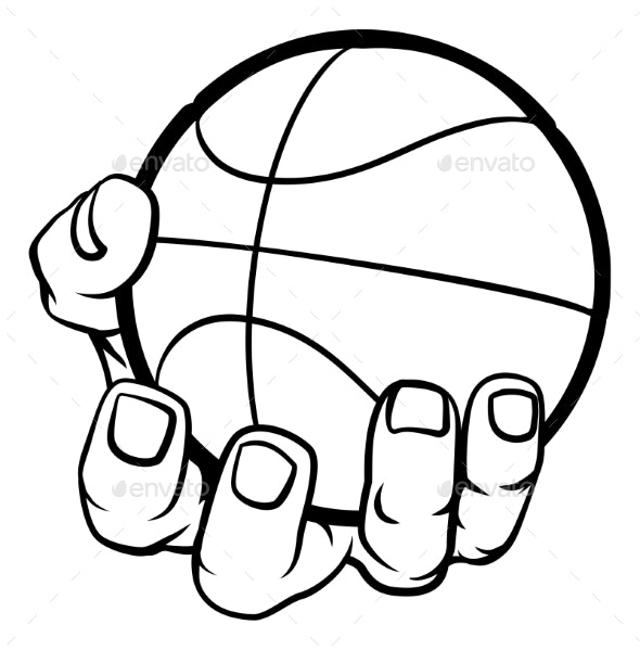 Hand Holding Basketball - Sports/Activity Conceptual