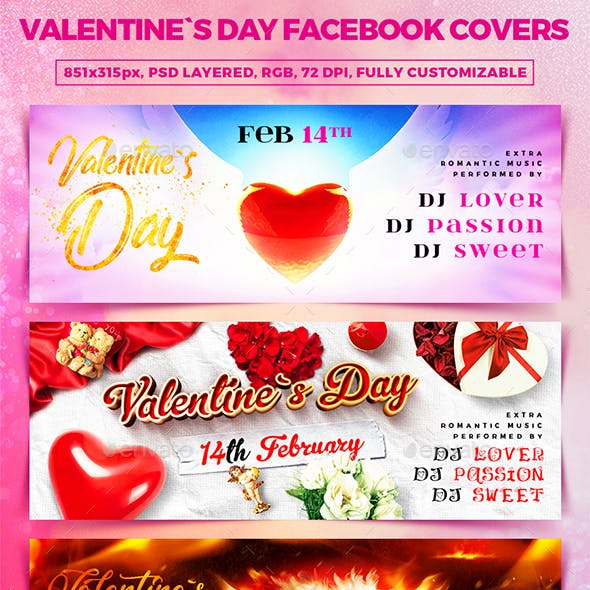 Valentine`s Day Facebook Covers