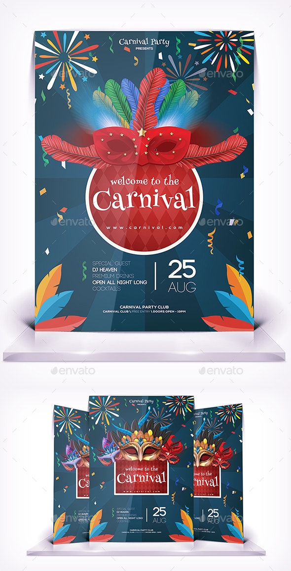 Welcome to Carnival Party - Flyers Print Templates