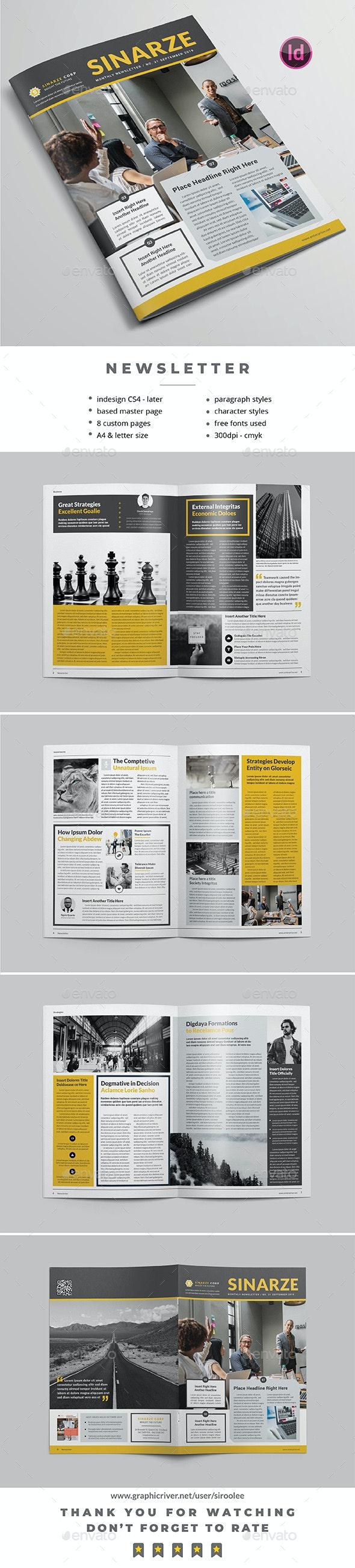Multipurpose Newsletter v.09 - Newsletters Print Templates