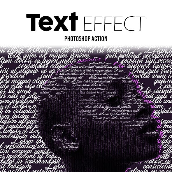 Text Effect Photoshop Action