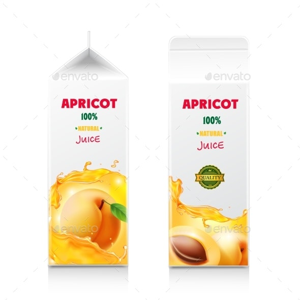 Apricot Juice Packaging Design Carton Cardboard - Food Objects