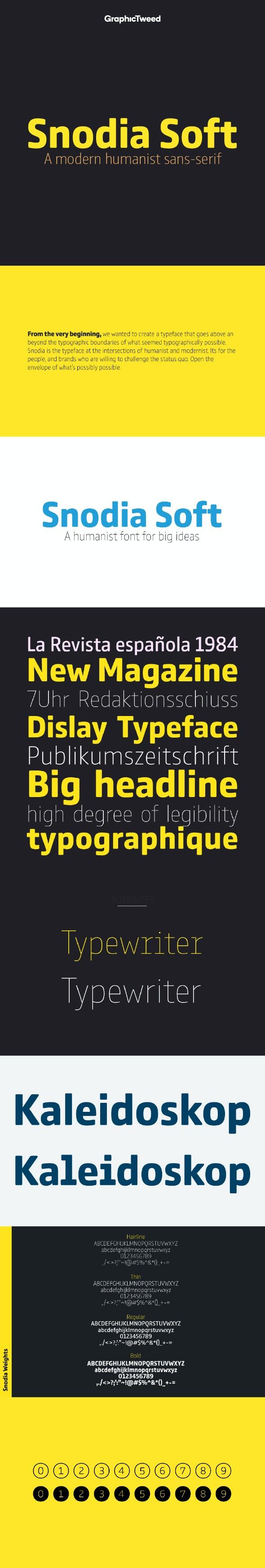 Snodia Soft Sans Font - Miscellaneous Sans-Serif