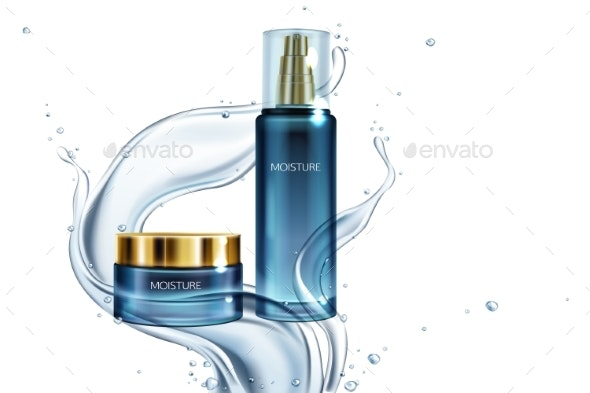Vector Moisturizing Cream Lotion in Water - Man-made Objects Objects