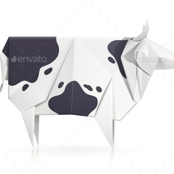 Cow Paper Origami Toy