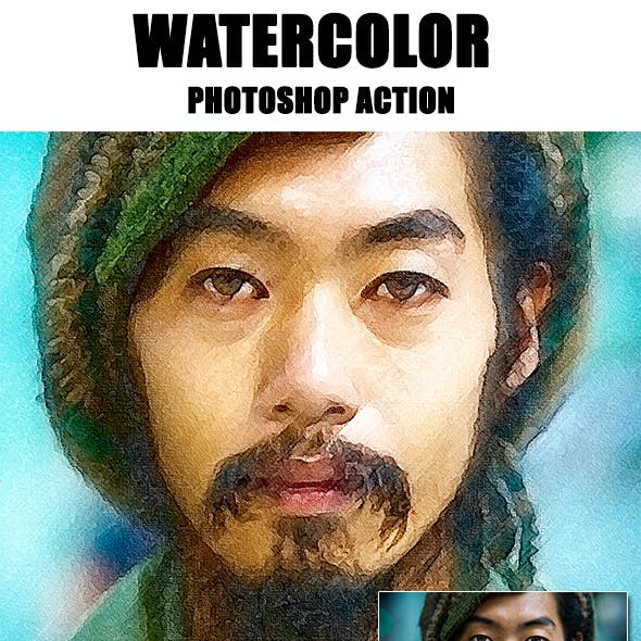 Watercolor Photoshop Action