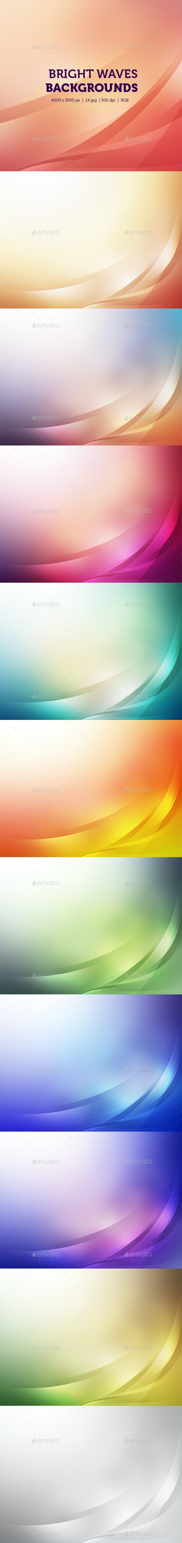 Bright Waves Backgrounds - Abstract Backgrounds