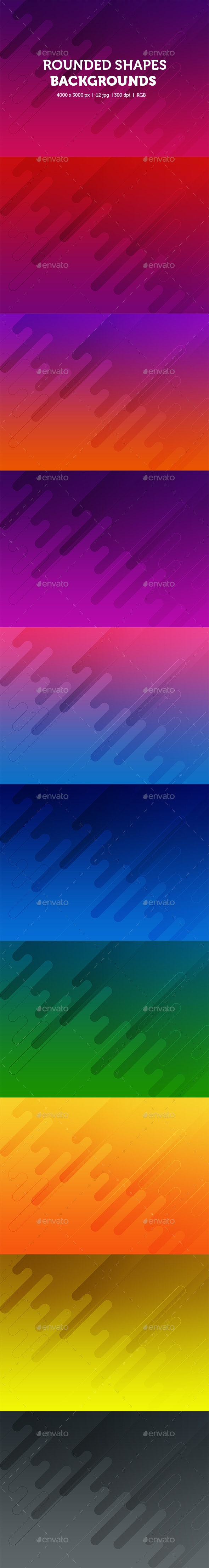 Abstract Rounded Shapes Backgrounds - Abstract Backgrounds